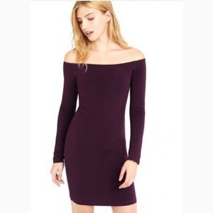 Express Off the Shoulder Bodycon Dress